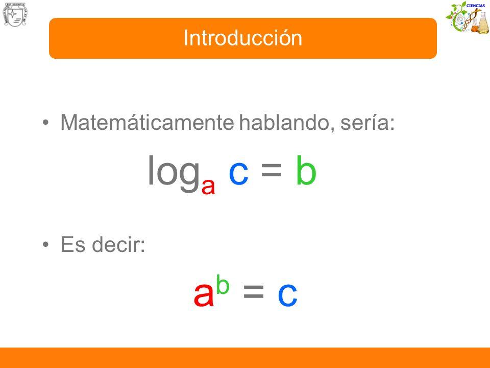 Ejemplos: -Log 3 81 = 4 es decir: 3 4 = 81 -Log 2 256 = 8 es decir: 2 8 = 256 -Log 4 16 = 2 es decir: 4 2 = 16 Introducción