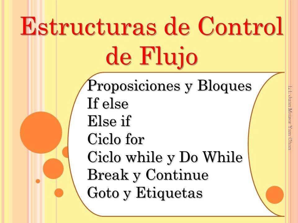 I DENTIFICAR LAS ESTRUCTURAS DE CONTROL DE FLUJO EN L ENGUAJE C.