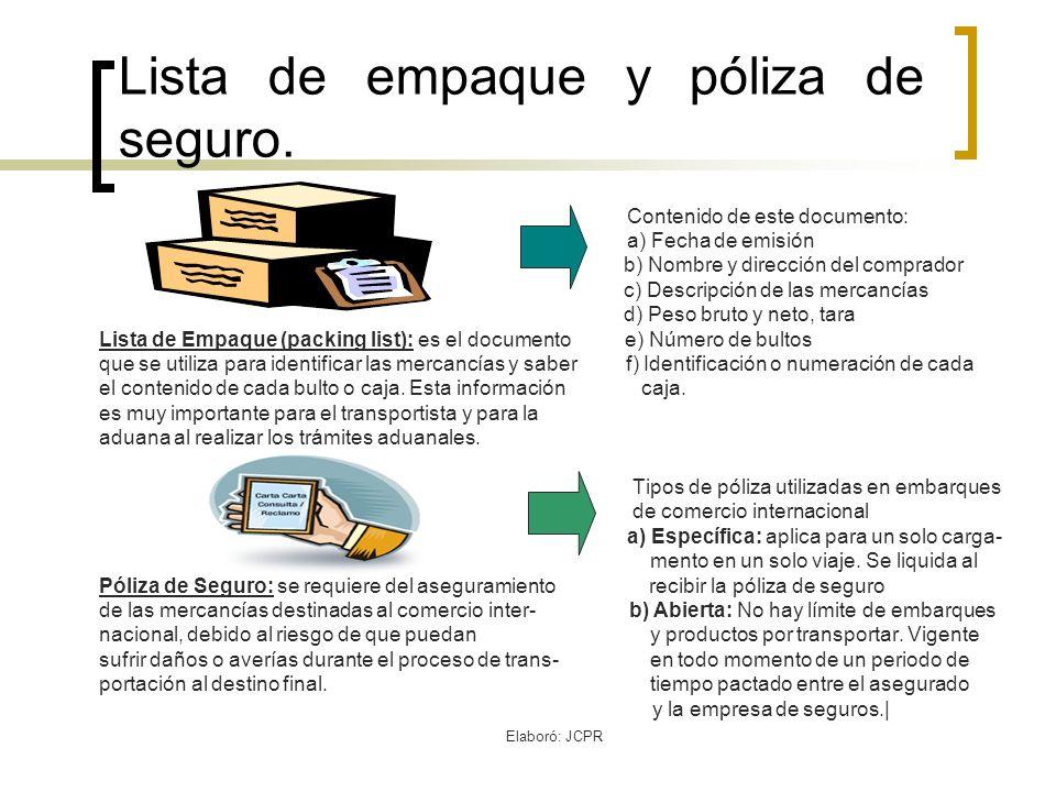 Elaboró: JCPR Elementos de la póliza de Seguro.