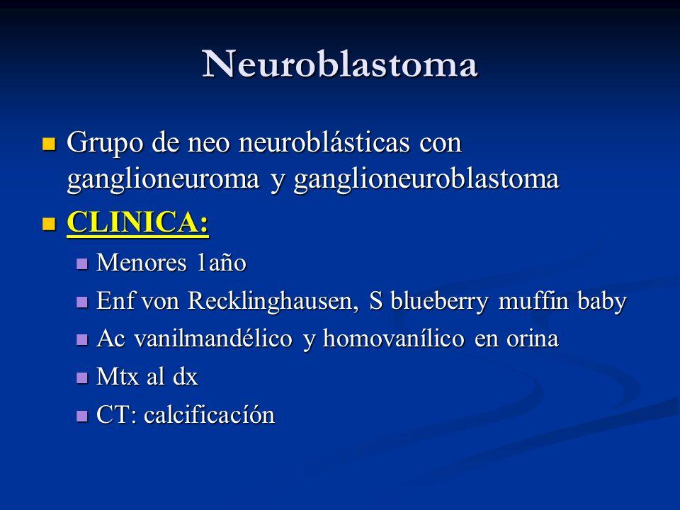 Neuroblastoma Grupo de neo neuroblásticas con ganglioneuroma y ganglioneuroblastoma Grupo de neo neuroblásticas con ganglioneuroma y ganglioneuroblast