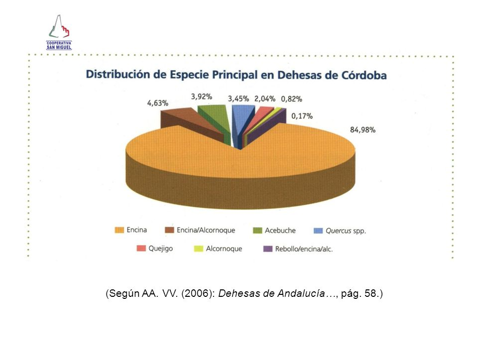 (Según AA. VV. (2006): Dehesas de Andalucía…, pág. 58.)