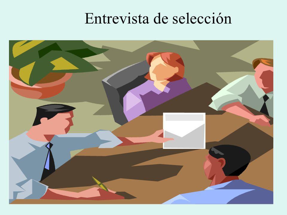 Aunque carezca de bases científicas y sea la técnica de selección más subjetiva e imprecisa, la entrevista personal es el factor que más influye en la decisión final respecto de la aceptación o rechazo del candidato al empleo.