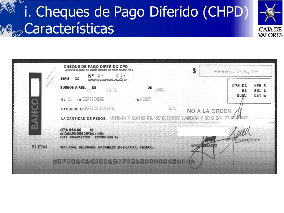 En el 2003, los CHPDs comenzaron a ser negociados en la Bolsa de Comercio de Buenos Aires. La nueva negociación tuvo como principal objetivo acelerar