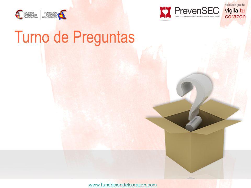www.fundaciondelcorazon.com Turno de Preguntas
