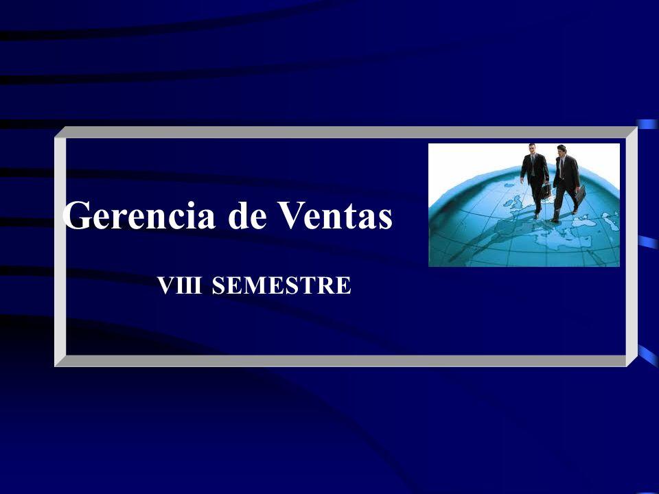 Gerencia de Ventas VIII SEMESTRE