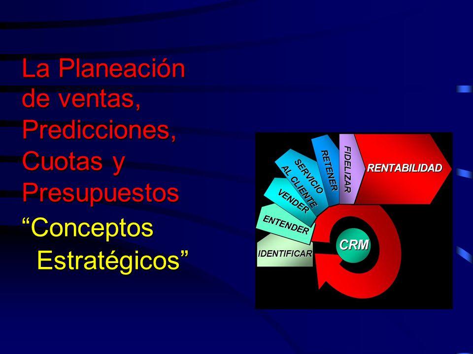 La Planeación de ventas, Predicciones, Cuotas y Presupuestos Conceptos Estratégicos La Planeación de ventas, Predicciones, Cuotas y Presupuestos Conce