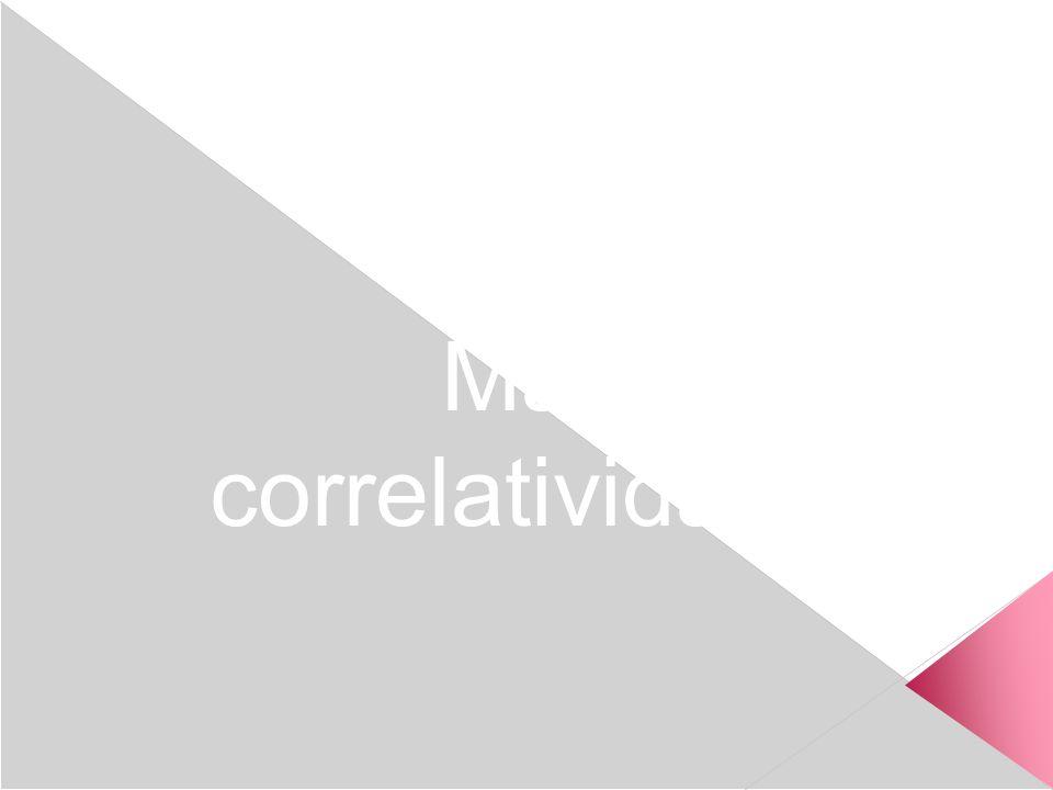 Materias y correlatividades