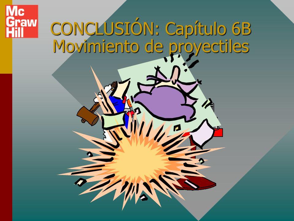 Resumen (continuación): 4. Luego, si se desea, se pueden encontrar el desplazamiento vectorial o la velocidad a partir de los componentes: 3. Los comp