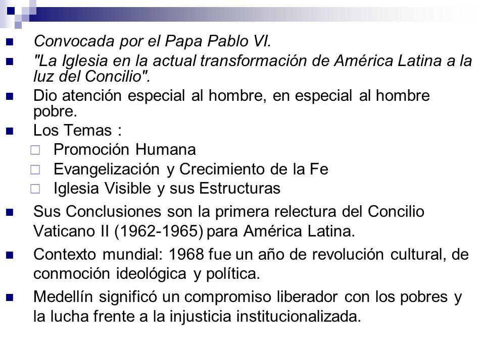 Convocada por el Papa Pablo VI.