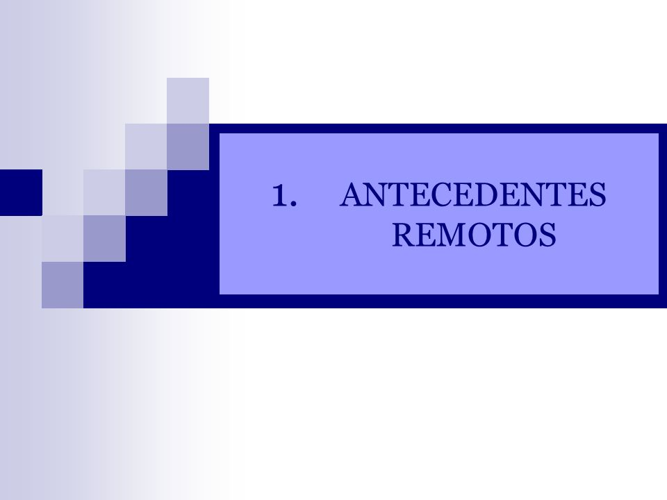 1. ANTECEDENTES REMOTOS