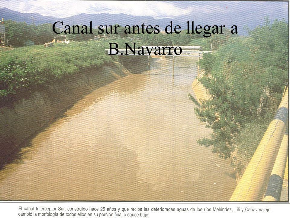 Canal sur antes de llegar a B.Navarro