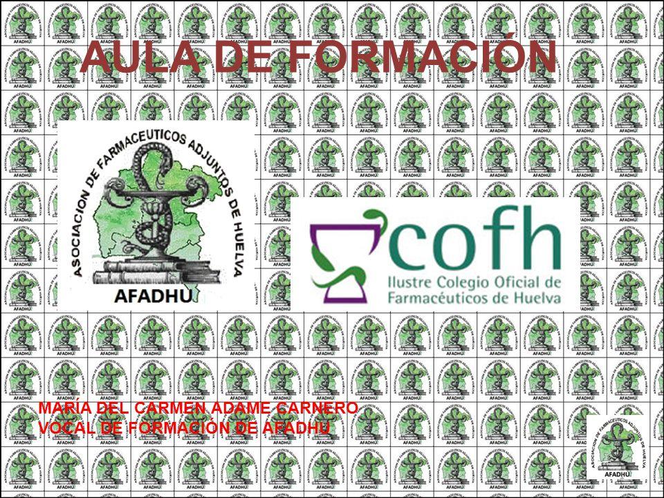 AULA DE FORMACIÓN MARÍA DEL CARMEN ADAME CARNERO VOCAL DE FORMACIÓN DE AFADHU 1