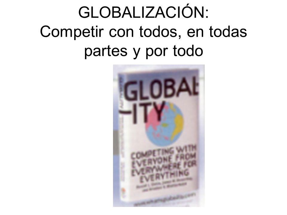 GLOBALIZACIÓN: Competir con todos, en todas partes y por todo