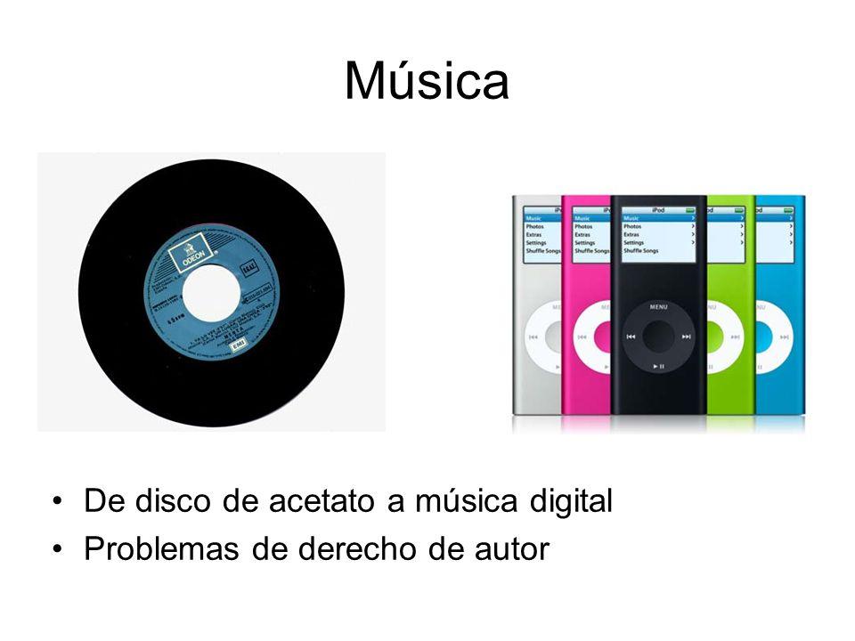 Música De disco de acetato a música digital Problemas de derecho de autor