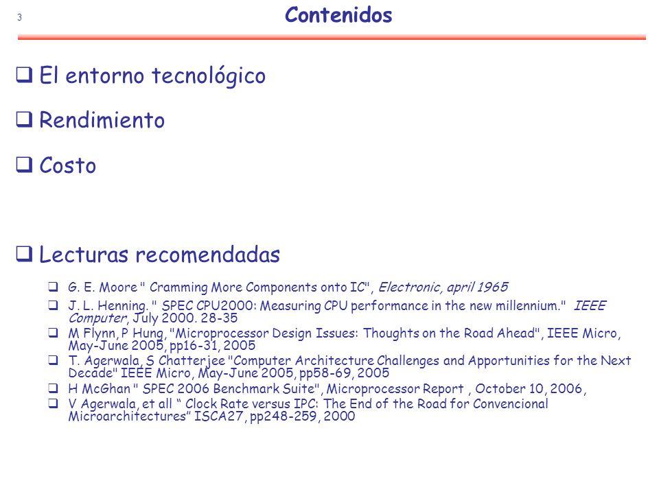 34 Rendimiento SPEC2006 vesus SPEC2000 Evolución de la jerarquía de memoria (256KB, 256MB a 4MB, 1GB) Más programas más complejos