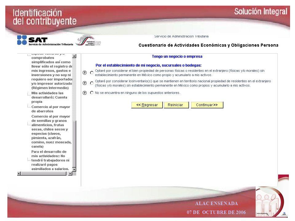ALAC ENSENADA 07 DE OCTUBRE DE 2006