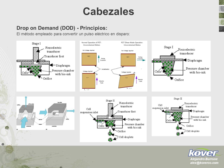 Drop on Demand (DOD) - Principios: El método empleado para convertir un pulso eléctrico en disparo: Cabezales Alejandro Burrone alex@koverco.com