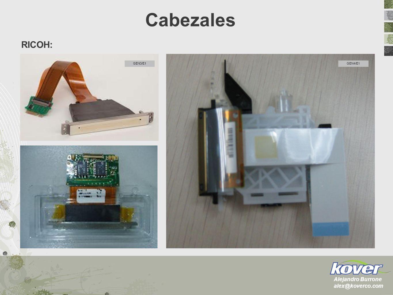 RICOH: GEN3/E1GEN4/E1 Cabezales Alejandro Burrone alex@koverco.com