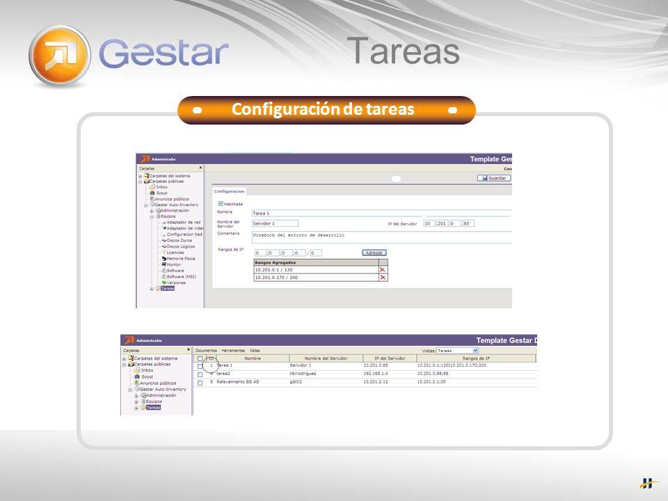 Tareas Configuración de tareas