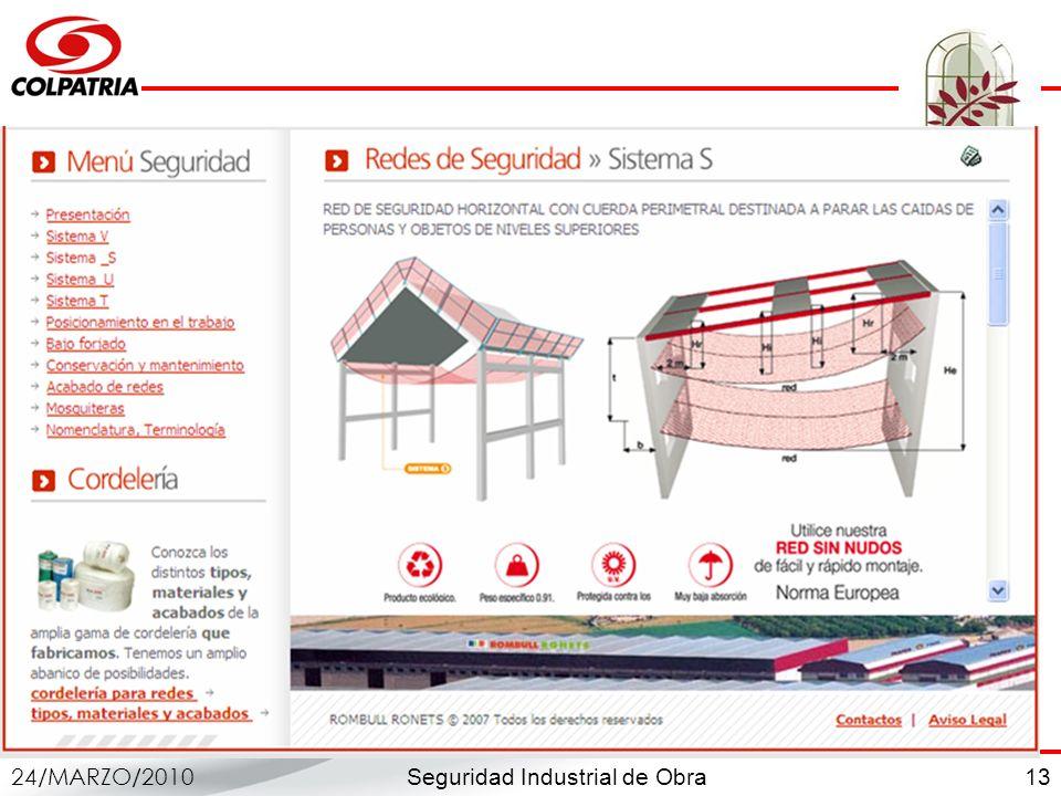 Seguridad Industrial de Obra 24/MARZO/2010 13