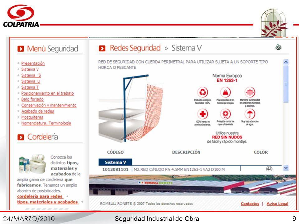 Seguridad Industrial de Obra 24/MARZO/2010 9