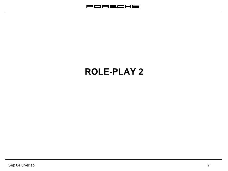 Sep 04 Overlap8 Role-Play 2 La venta en el Concesionario Objetivo: 1.