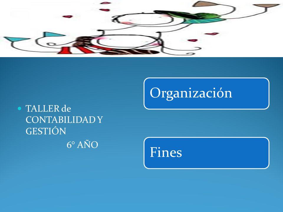 OrganizaciónFines TALLER de CONTABILIDAD Y GESTIÓN 6° AÑO