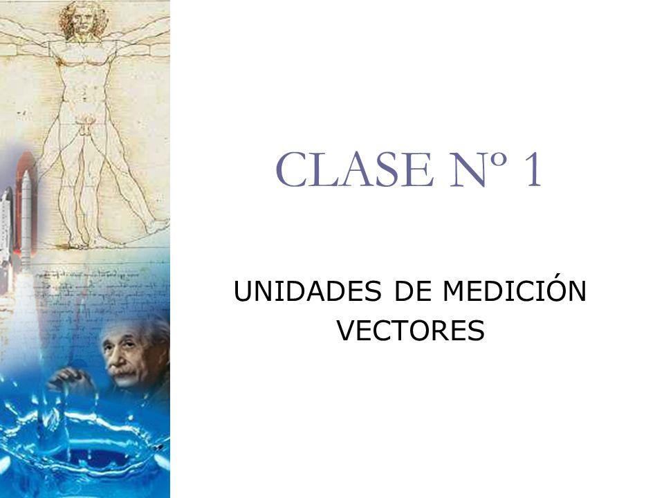 CLASE Nº 1 UNIDADES DE MEDICIÓN VECTORES