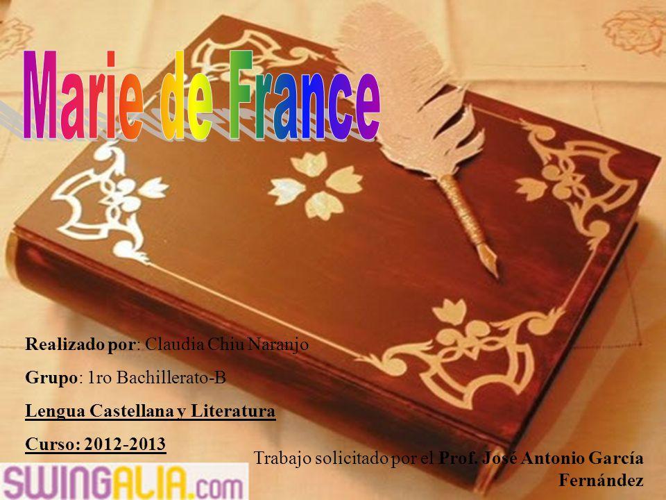 Realizado por: Claudia Chiu Naranjo Grupo: 1ro Bachillerato-B Lengua Castellana y Literatura Curso: 2012-2013 Trabajo solicitado por el Prof.