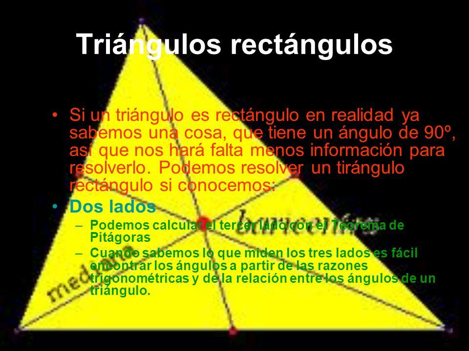Nombre de sus lados Se denomina hipotenusa al lado mayor del triángulo, el lado opuesto al ángulo recto.