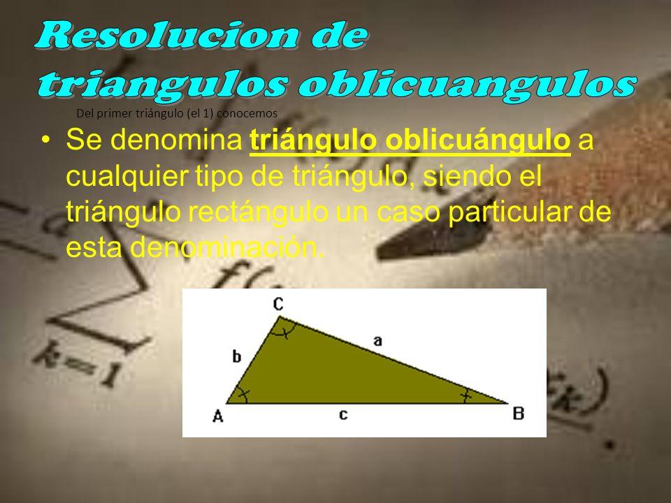 Un ángulo y un lado –L–Los lados se calculan mediante la razón trigonométrica del ángulo que tenemos y con la longitud del lado que tenemos –E–El ángulo que nos falta se calcula recordando que los ángulos de un triángulo suman entre los tres 180º siempre.