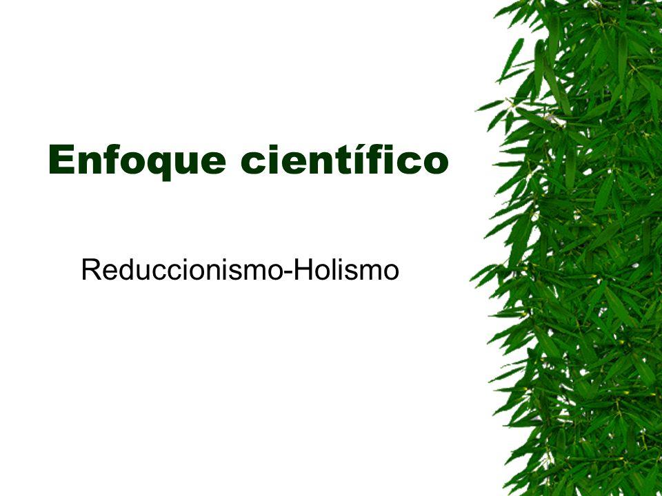 Enfoque científico Reduccionismo-Holismo