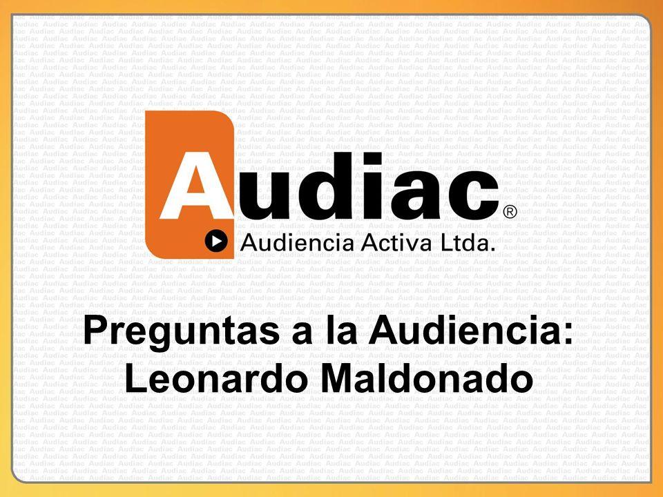 Preguntas a la Audiencia: Leonardo Maldonado
