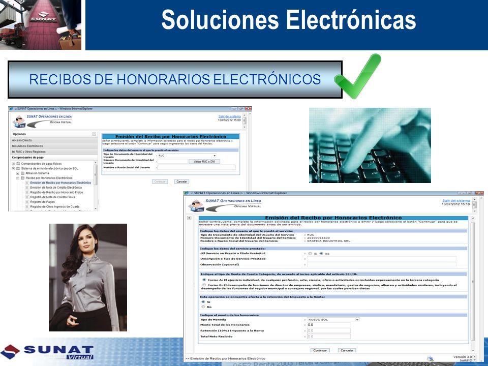 RECIBOS DE HONORARIOS ELECTRÓNICOS Soluciones Electrónicas