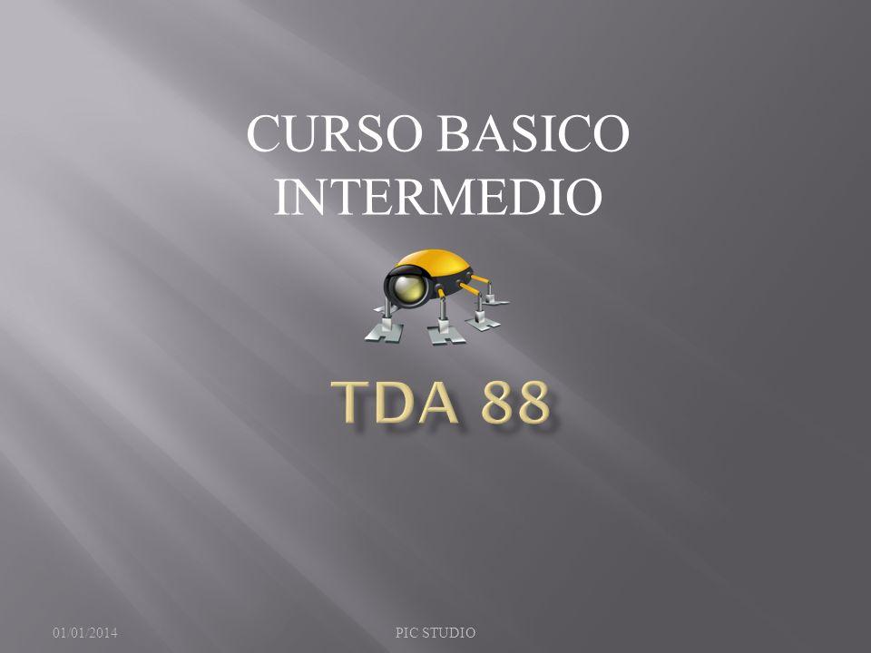 CURSO BASICO INTERMEDIO 01/01/2014PIC STUDIO