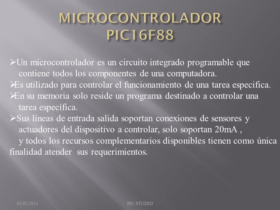 Un microcontrolador es un circuito integrado programable que contiene todos los componentes de una computadora. Es utilizado para controlar el funcion