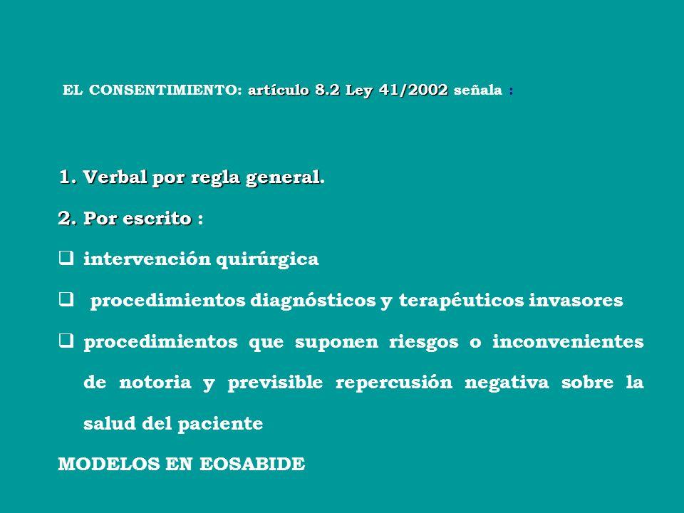 LEY BÁSICA 41/2002 Art. 2.3 de la LEY BÁSICA 41/2002 la información de sus técnicas deberes de informacióndocumentación clínicarespetodecisioneslibrev