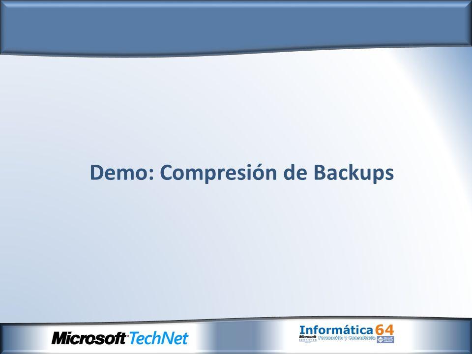 Demo: Compresión de Backups