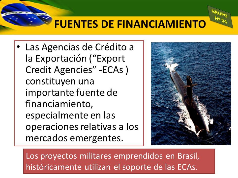 Las Agencias de Crédito a la Exportación (Export Credit Agencies -ECAs ) constituyen una importante fuente de financiamiento, especialmente en las ope