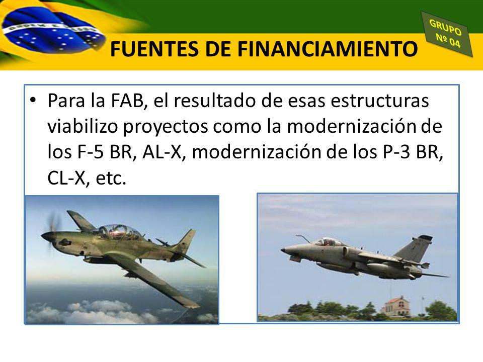 Para la FAB, el resultado de esas estructuras viabilizo proyectos como la modernización de los F-5 BR, AL-X, modernización de los P-3 BR, CL-X, etc. F