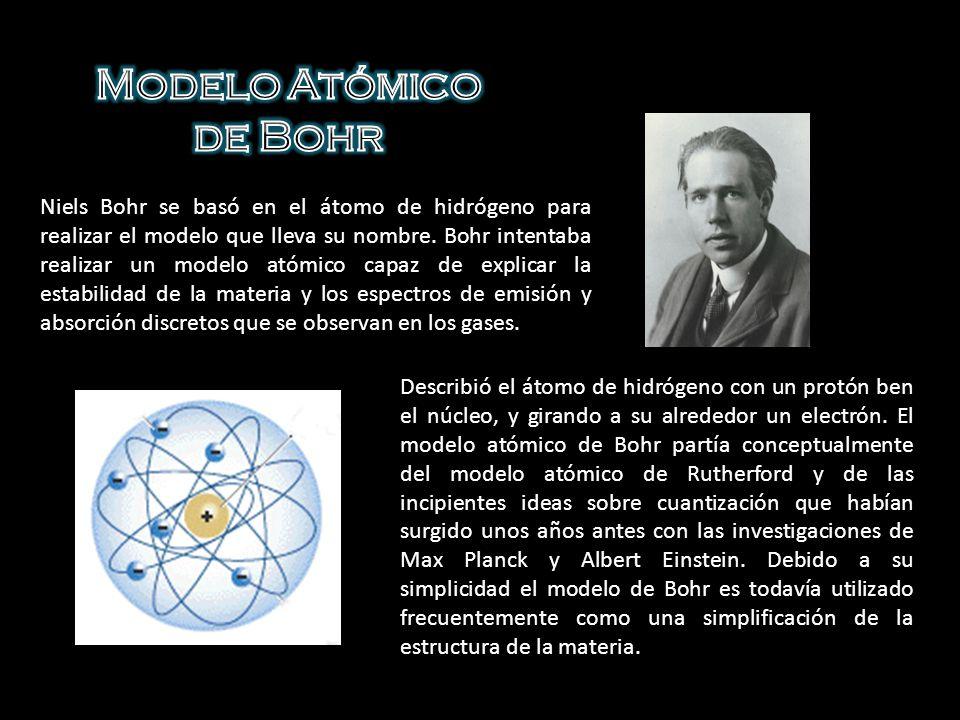En este modelo los electrones giran en órbitas circulares alrededor del núcleo, ocupando la órbita de menor energía posible, o la órbita más cercana posible al núcleo.