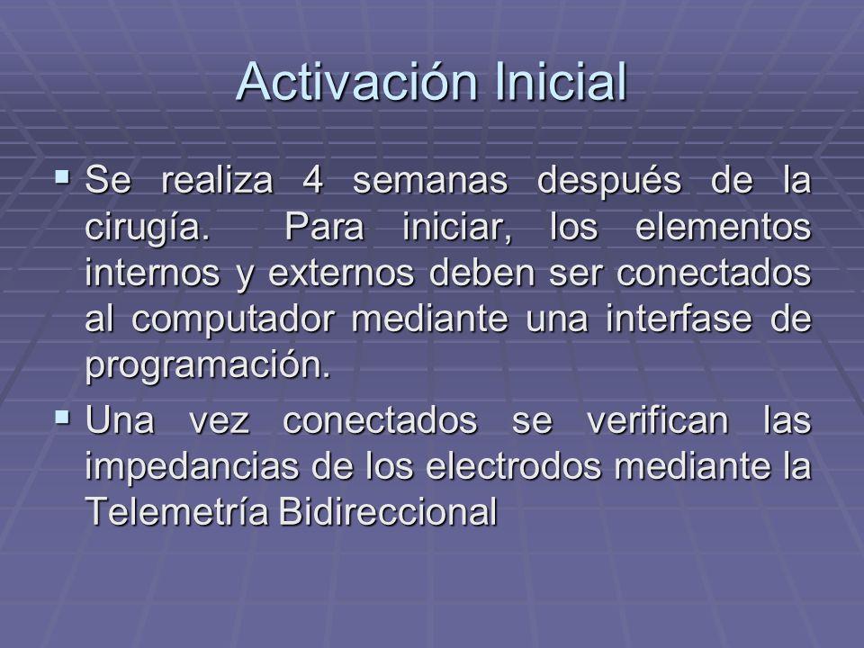 Elementos que intervienen en la programación de un implante coclear