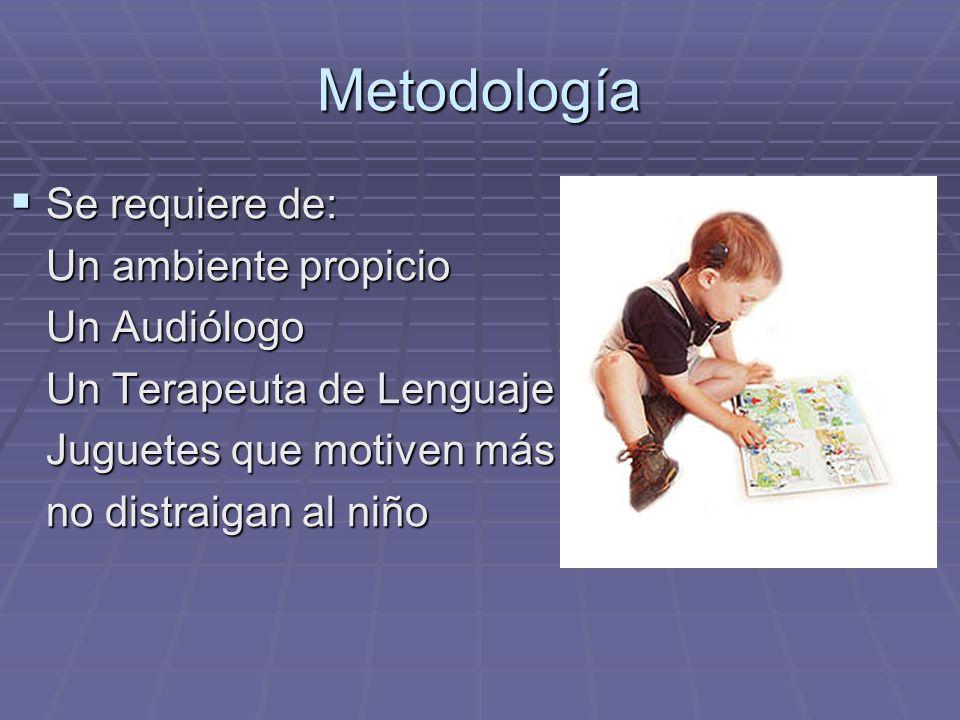 Metodología En los adultos no entraña dificultades En los adultos no entraña dificultades En los niños se realiza mediante la observación de su conduc