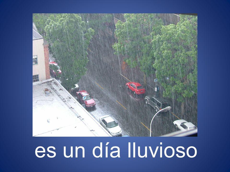 es un día lluvioso