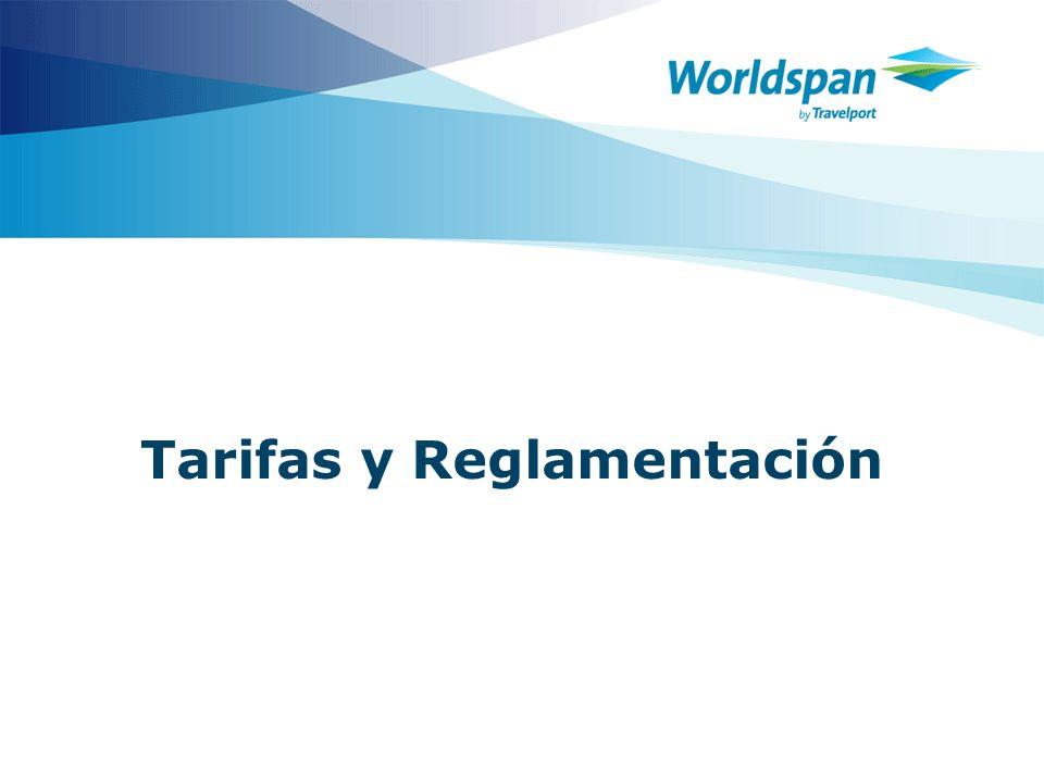 Tarifas y Reglamentación