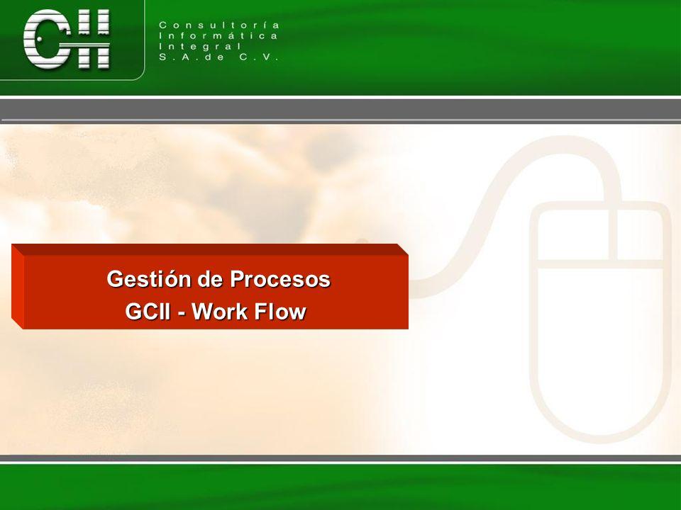 Gestión de Procesos Gestión de Procesos GCII - Work Flow