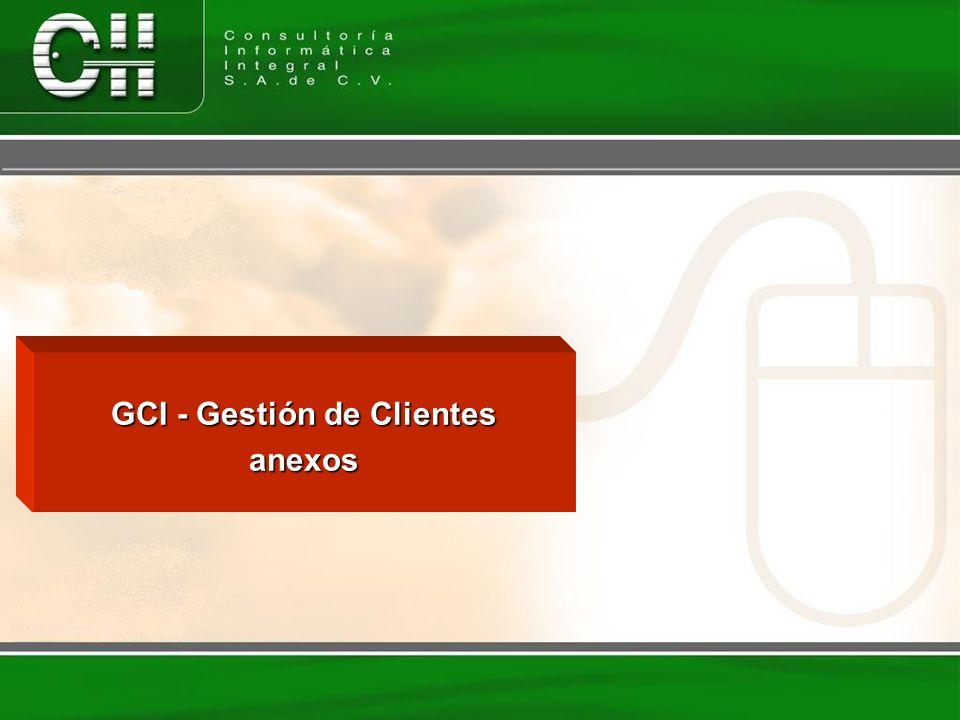 GCI - Gestión de Clientes anexos
