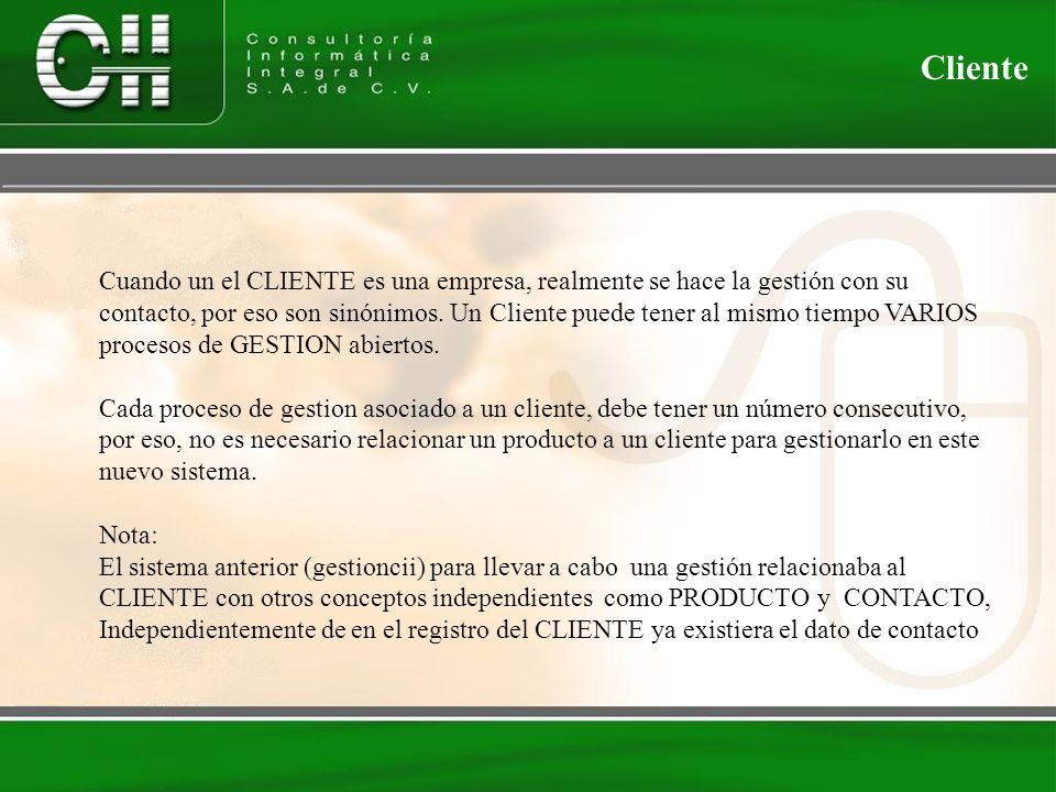 Cuando un el CLIENTE es una empresa, realmente se hace la gestión con su contacto, por eso son sinónimos.