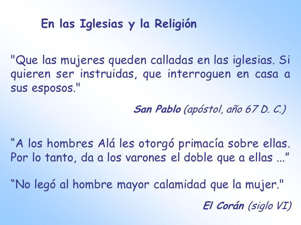 En las Iglesias y la Religión