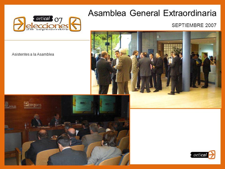 4 Asamblea General Extraordinaria SEPTIEMBRE 2007 Asistentes a la Asamblea